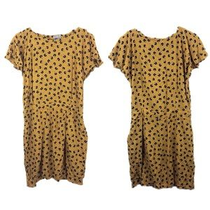 ASOS Cute Yellow Clover Print Dress